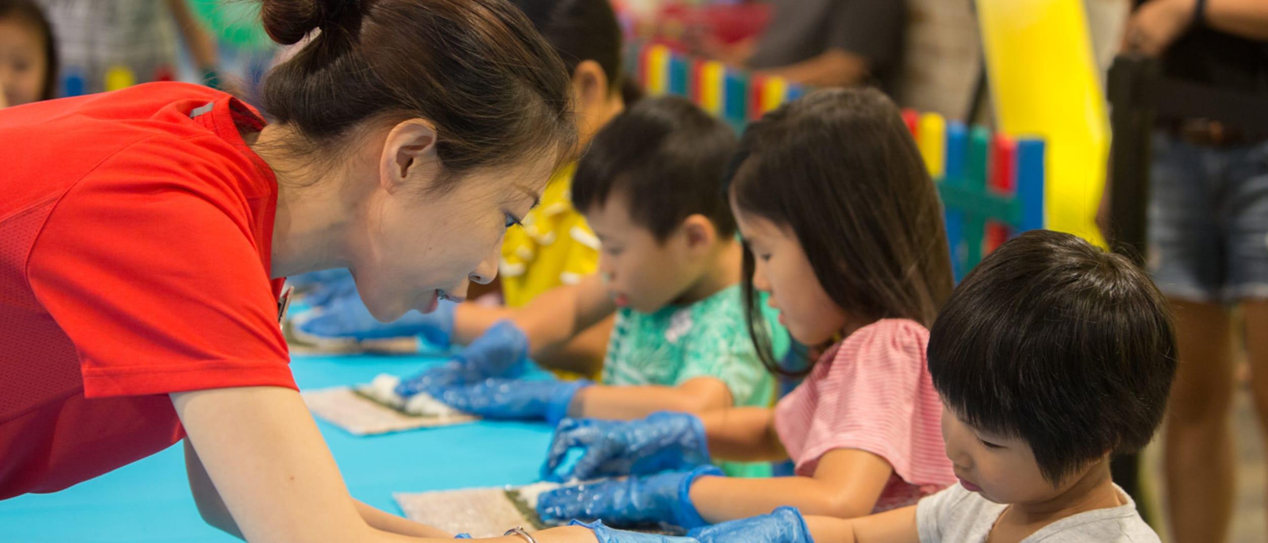 Kids sushi making workshops with Sushi Hub