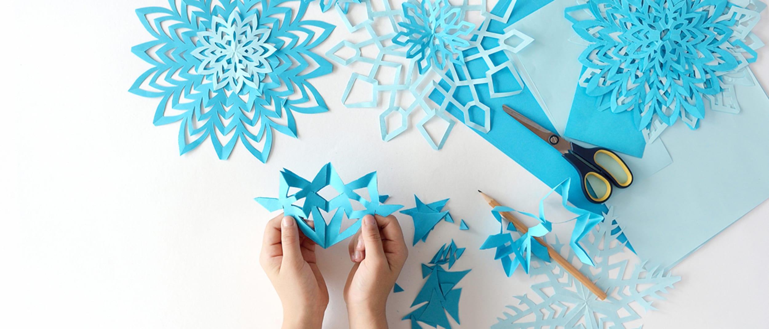 Kids' winter warmer craft station