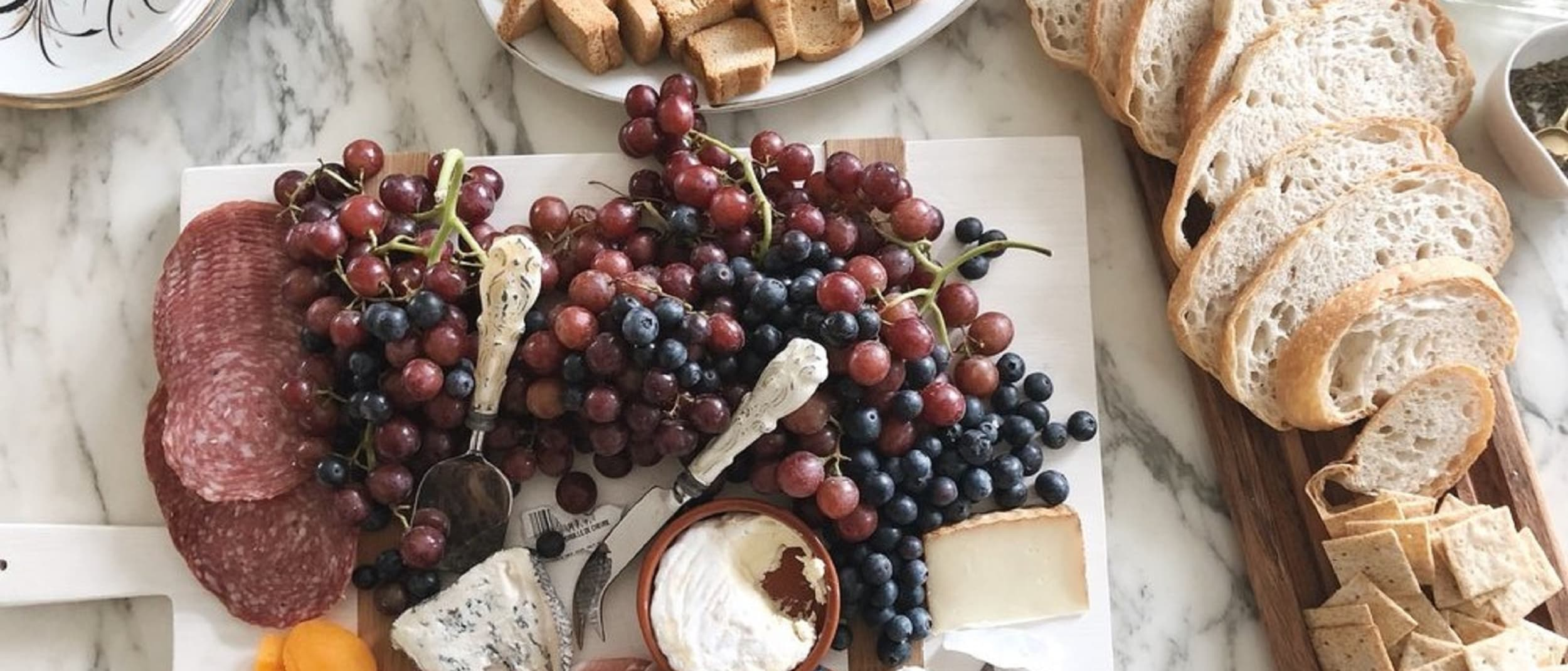 French inspired cheese board for entertaining