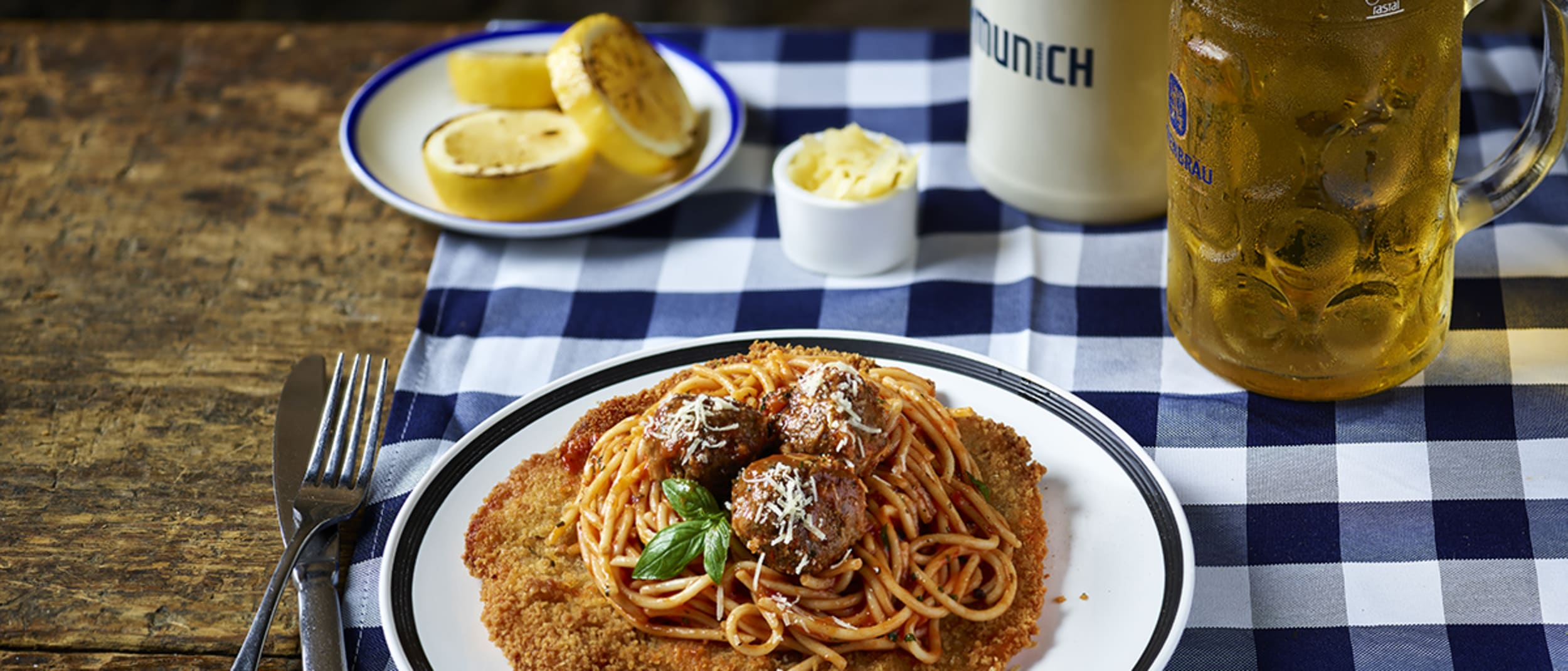 New loaded schnitzels at The Bavarian
