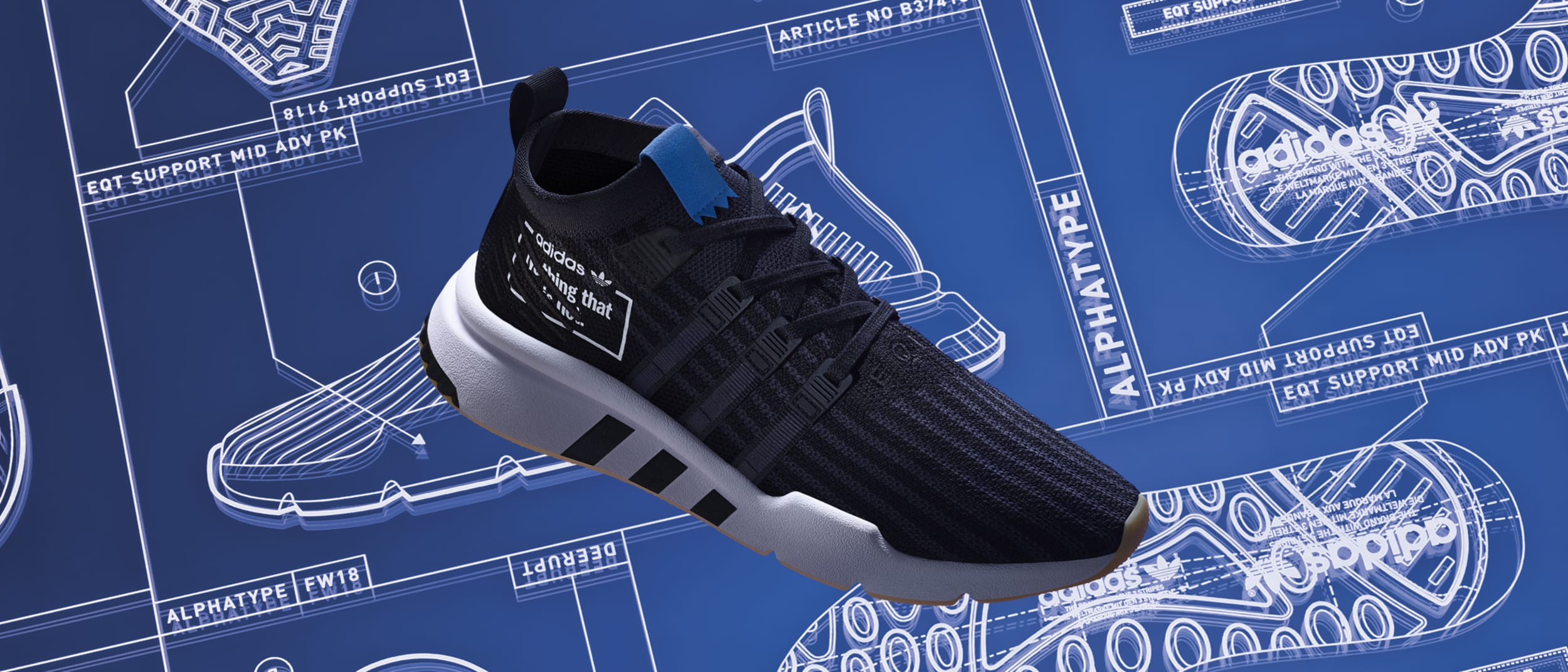adidas Original: introducing Alphatype, greatest sneakers united
