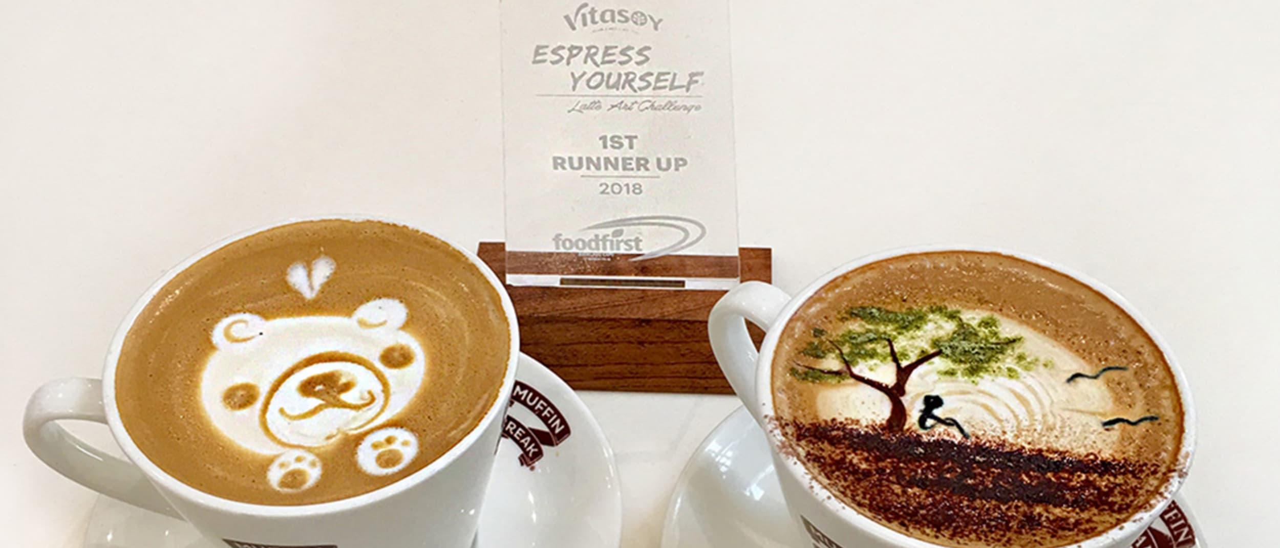 Muffin Break coffee art
