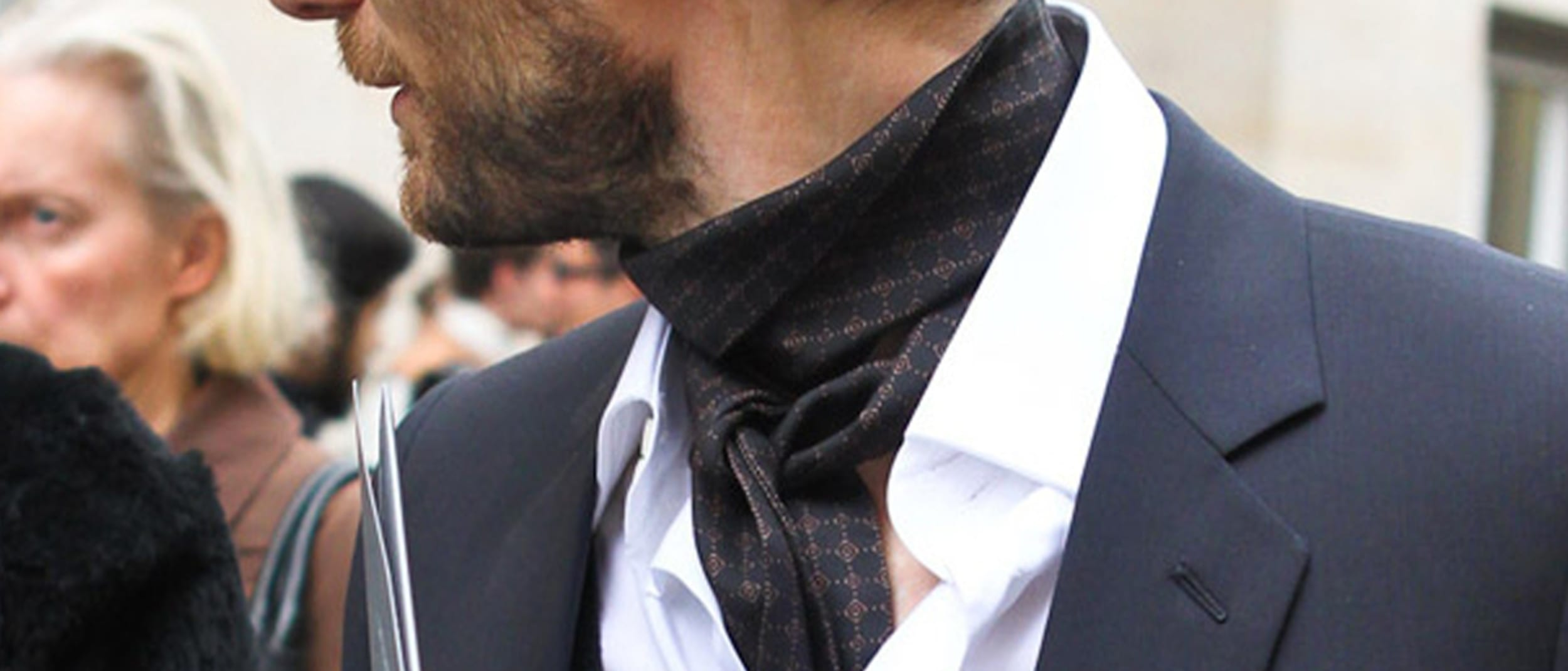 Reuben F Scarf: the cravat is making a style come-back