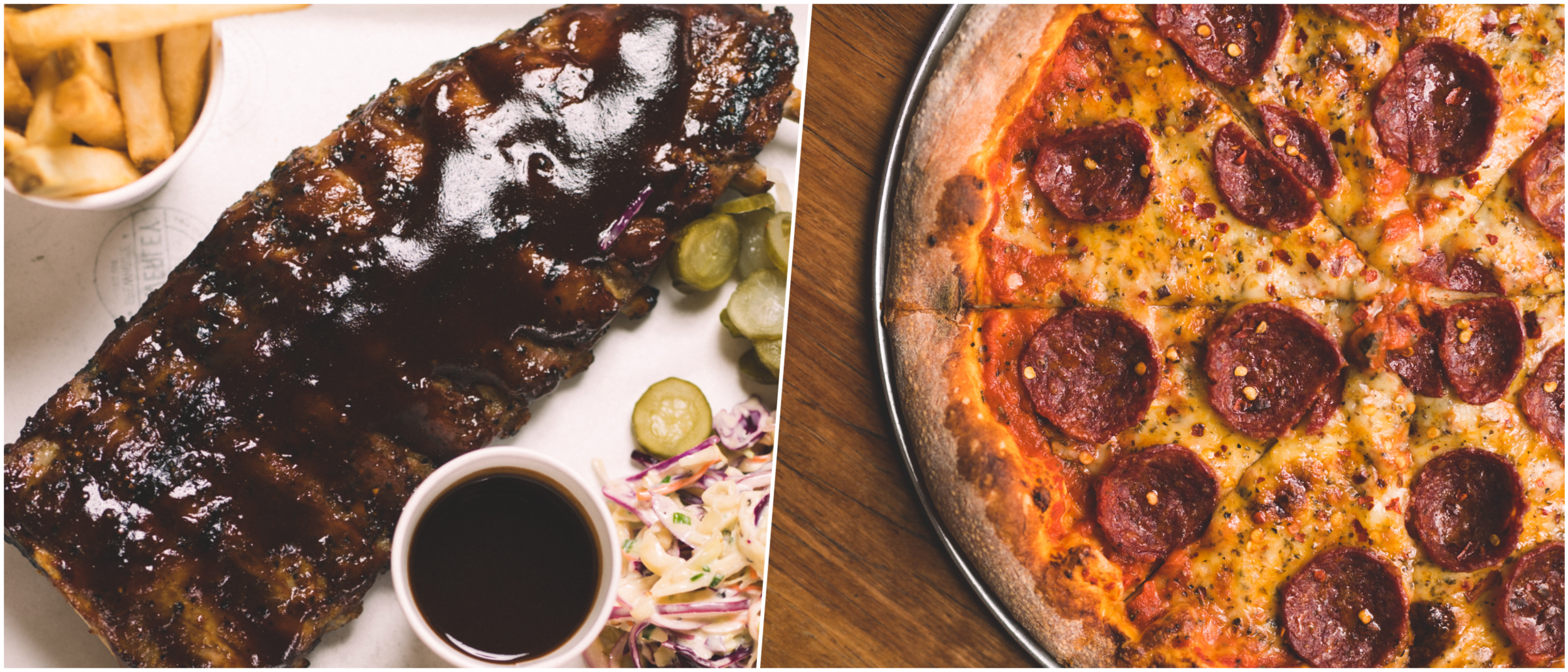 The Waverley Brewhouse: ribs and pizza's
