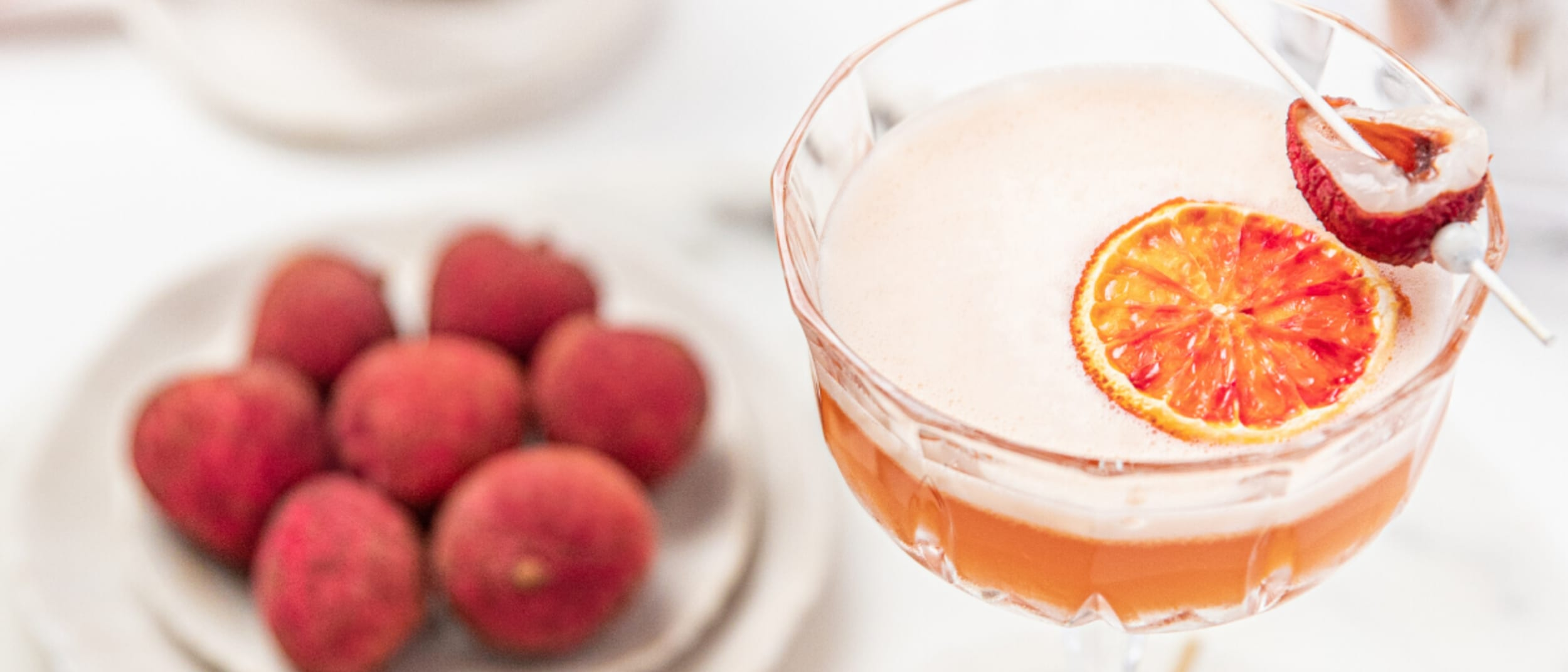 Try your hand at this orange blush lychee summer cocktail