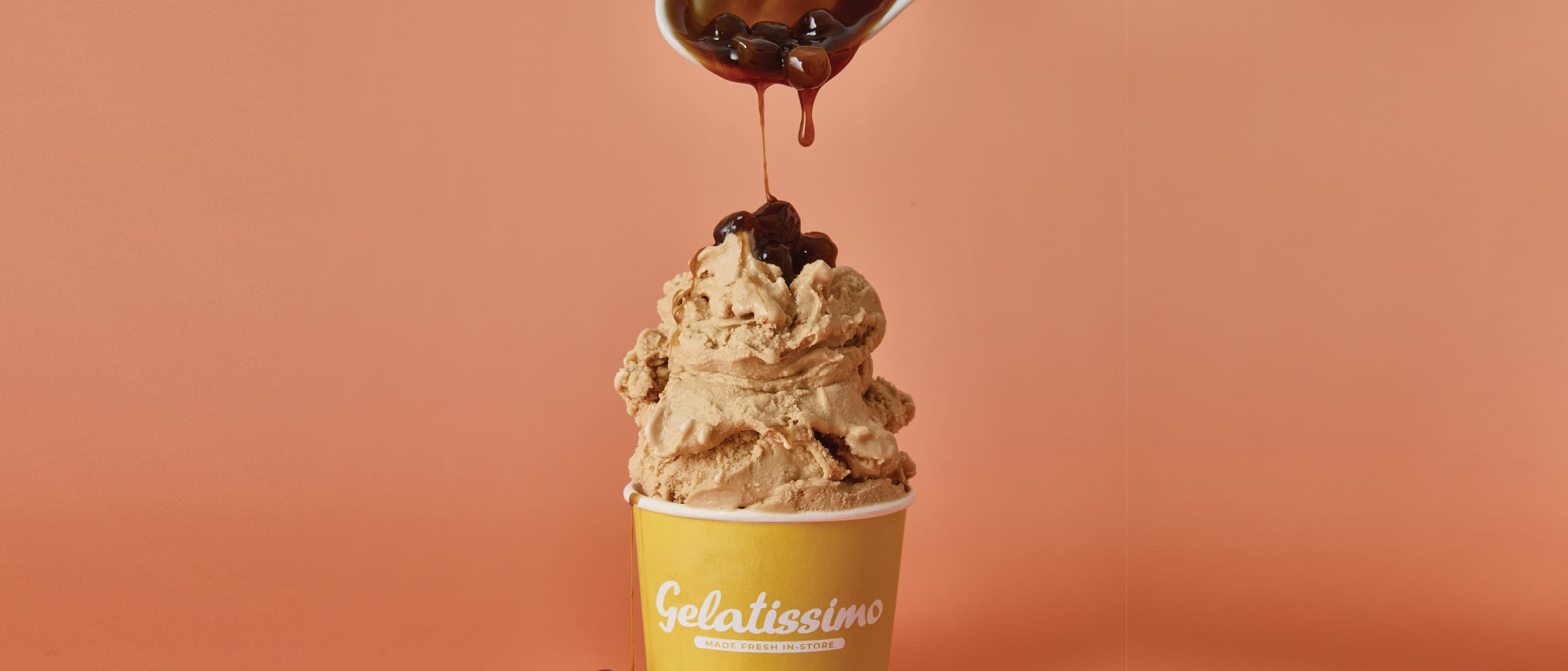 Gelatissimo: New Brown Sugar Bubble Milk Tea Gelato
