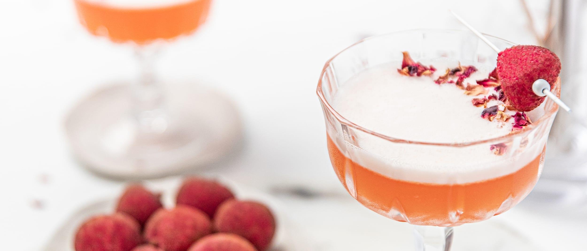Recipe: Lychee Orange Blush Cocktail