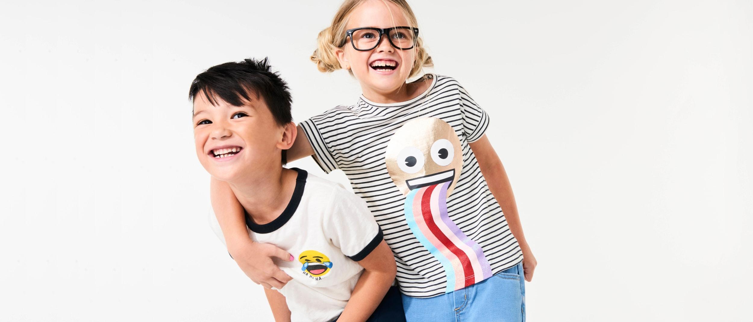 $15 Emoji tees at Cotton On Kids