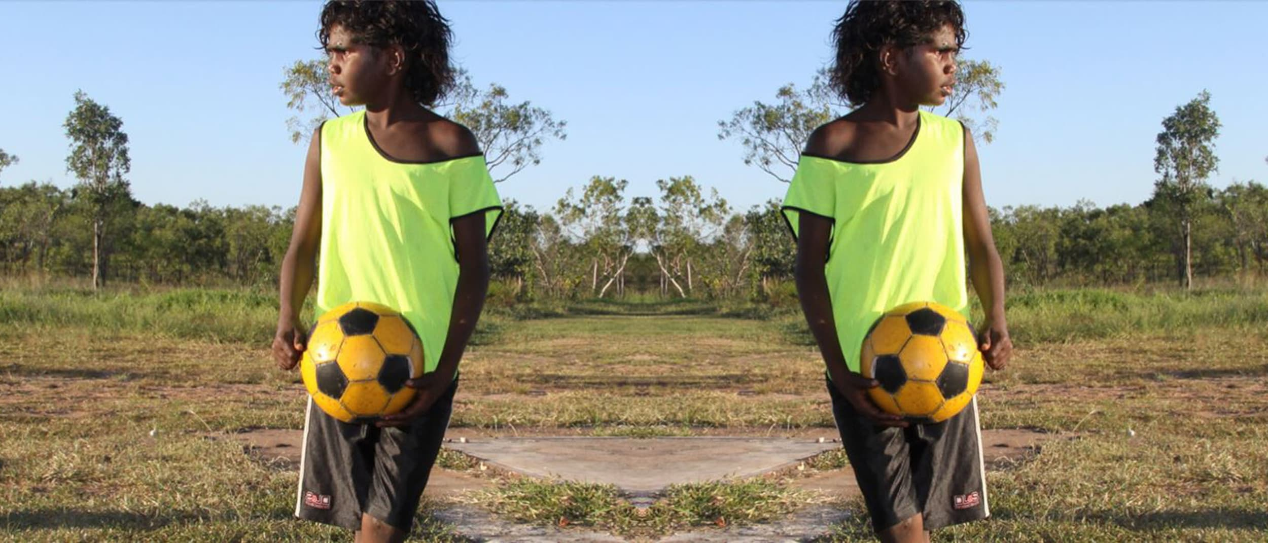 Football donation drive with The Nangala Project