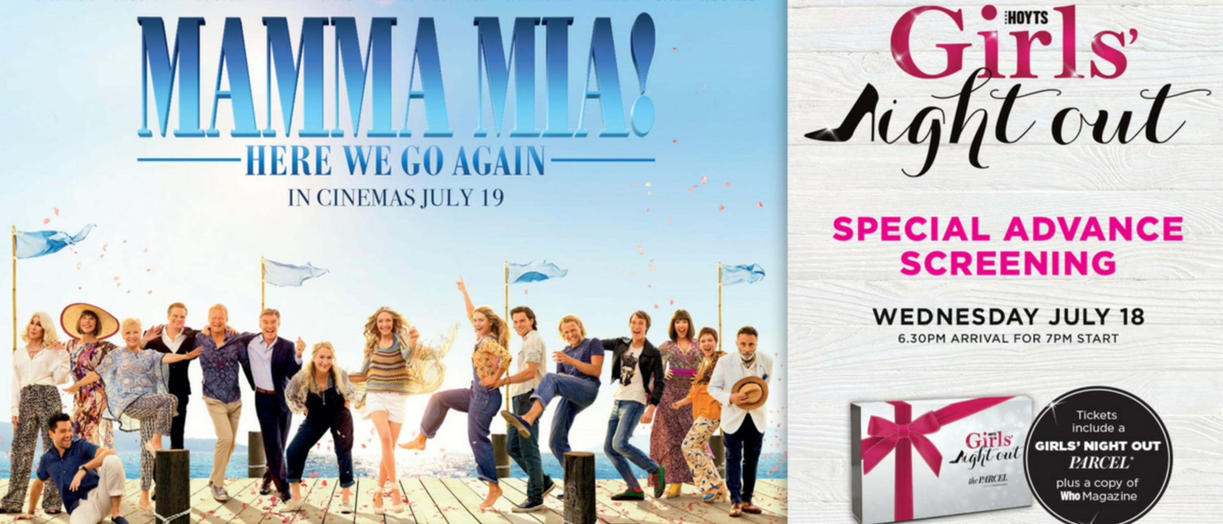 HOYTS Cinemas: Mamma Mia! Here We Go Again - Girls' Night Out