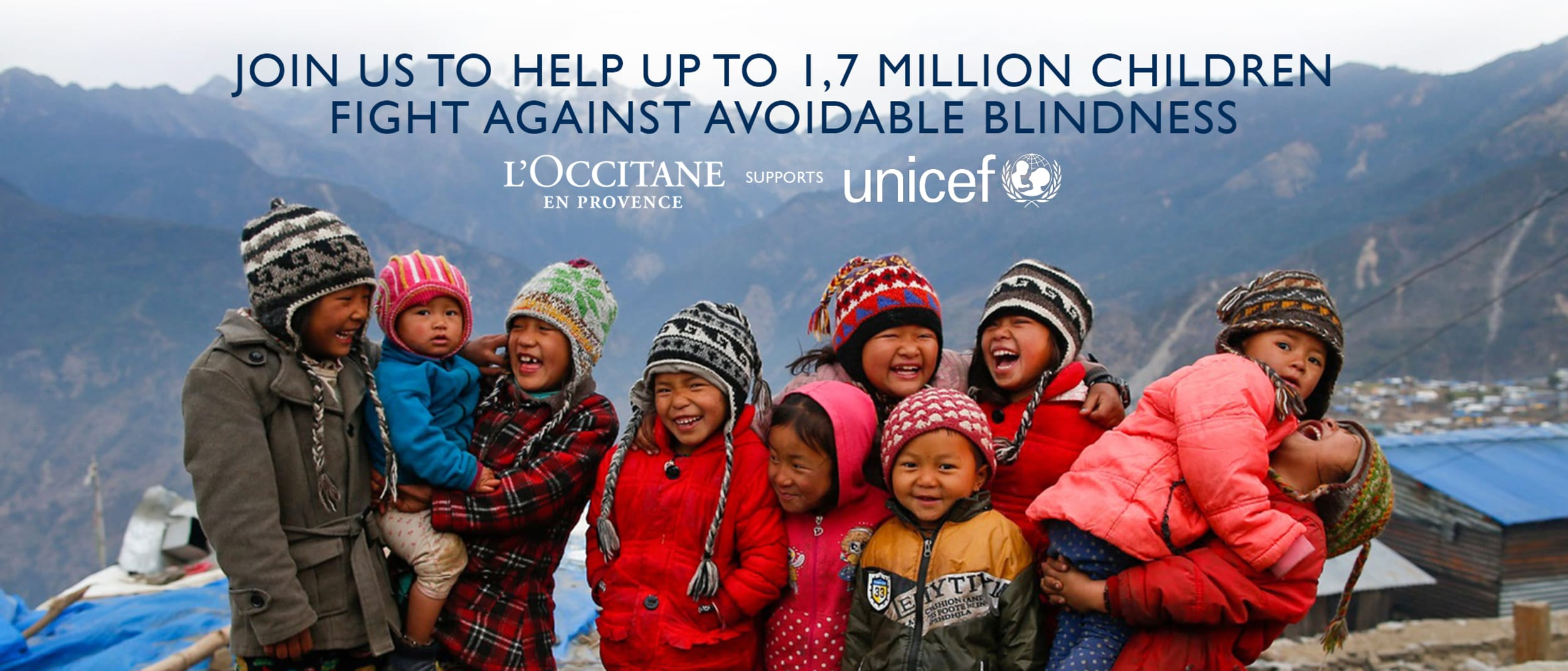L'OCCITANE supports UNICEF - fighting against avoidable blindness