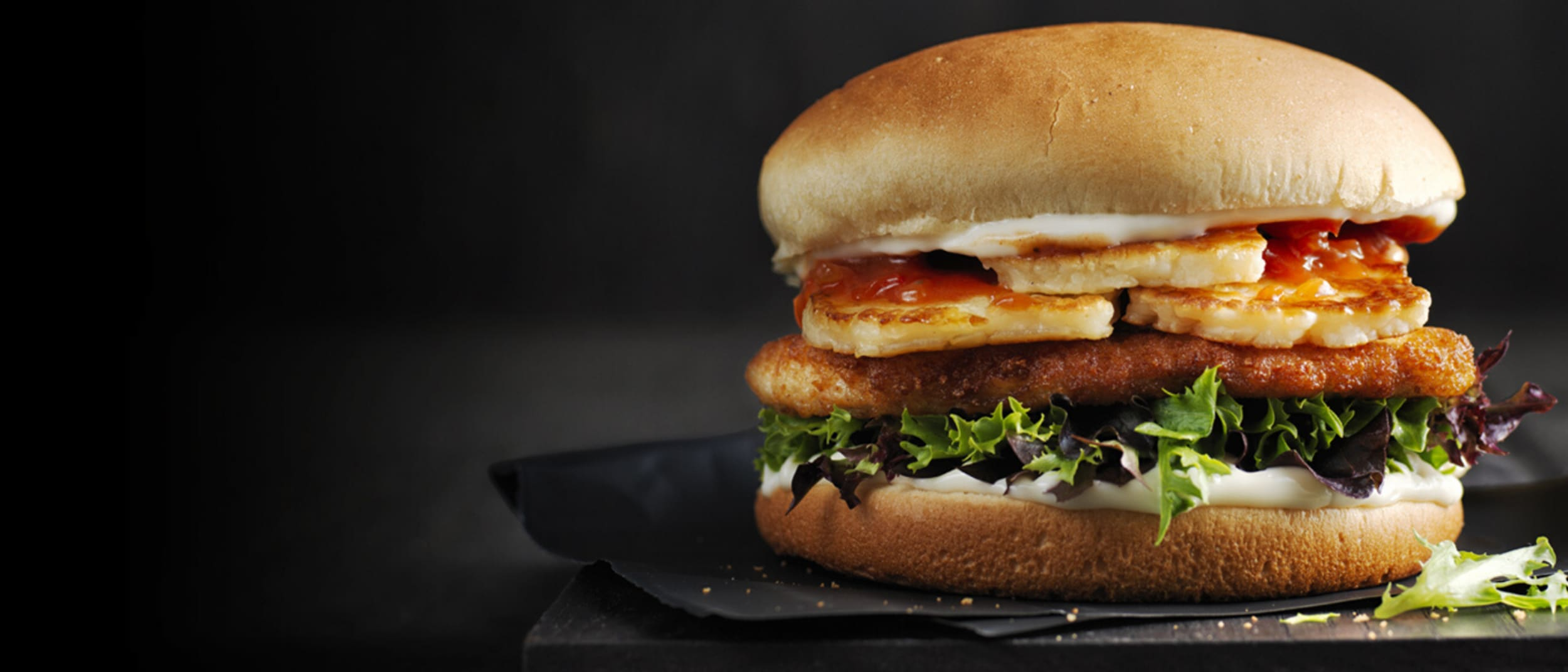 Oporto: Halleloumi - Our Halloumi & Chicken Burger is back...