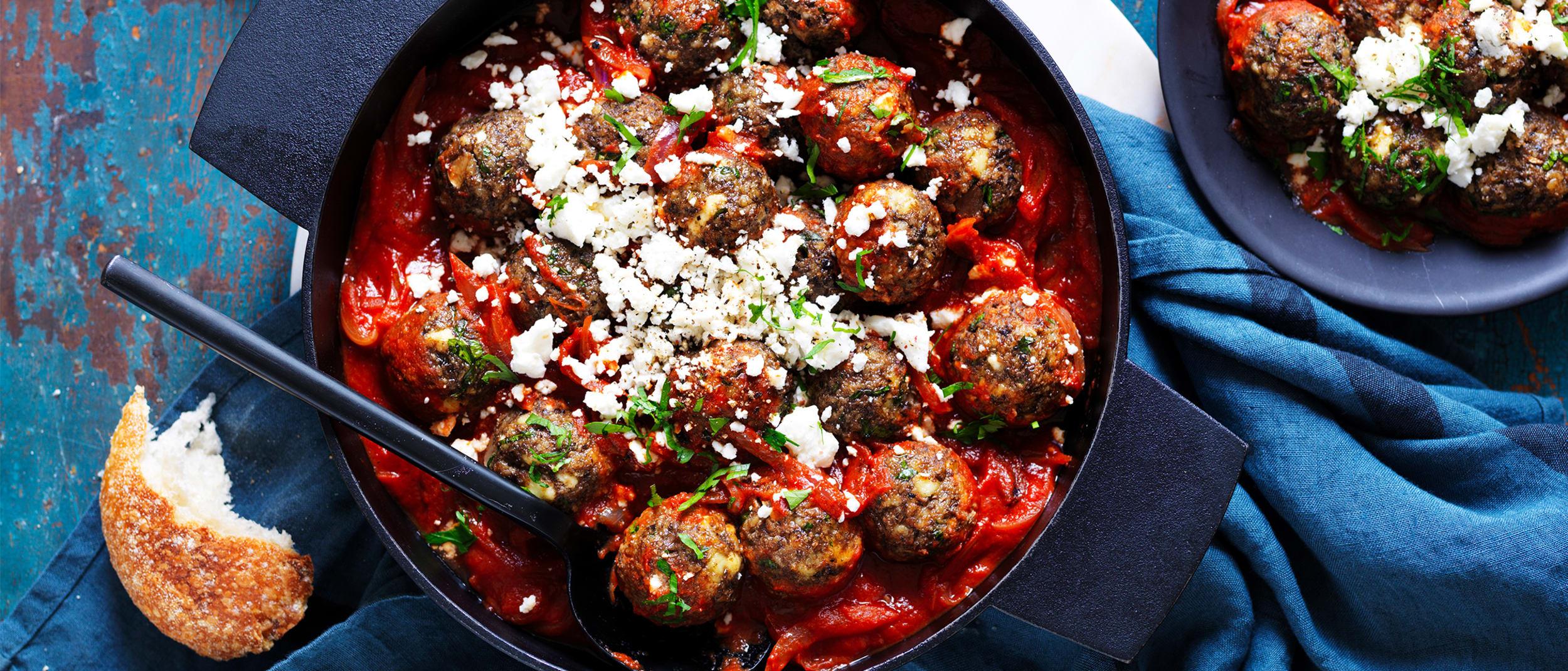Ricotta and mushroom non-meatballs
