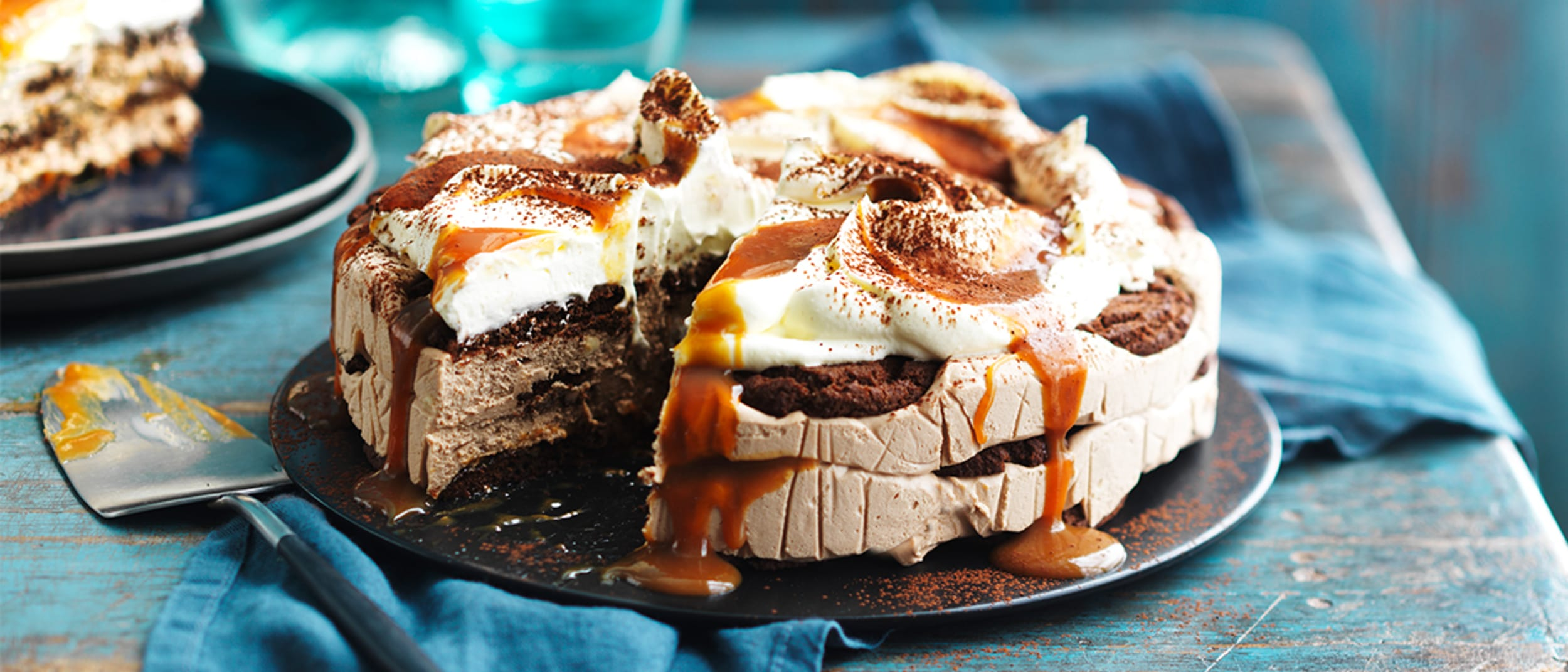 Chocolate ripple caramello cheesecake