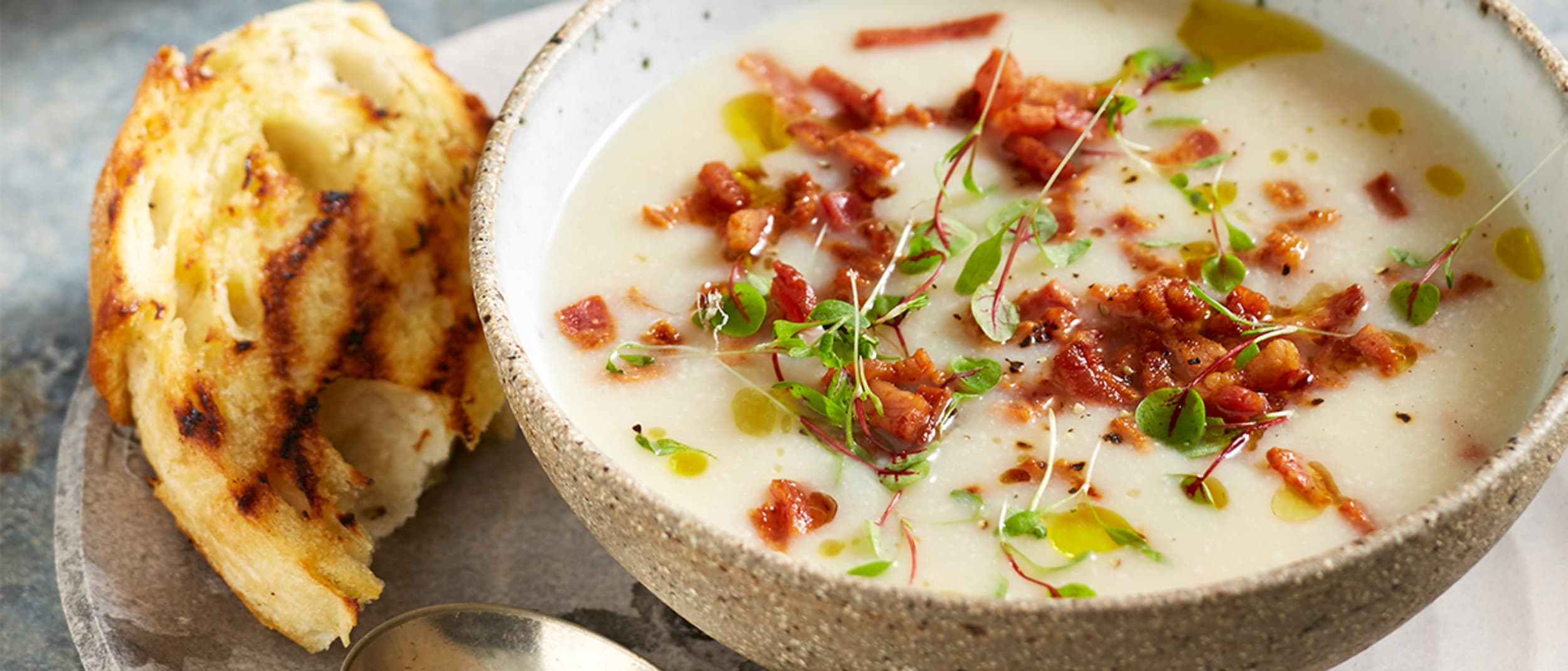 Cauliflower and bacon soup