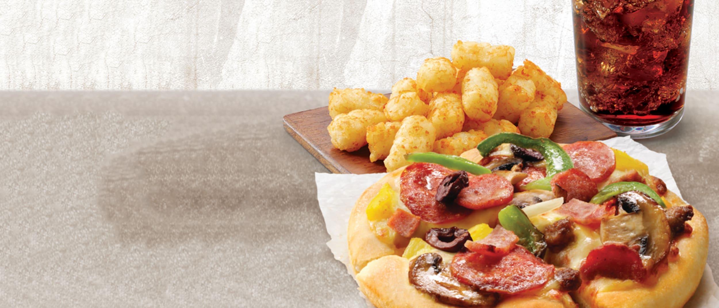 """Pizza Hut: 6"""" pizza combo $7.95"""
