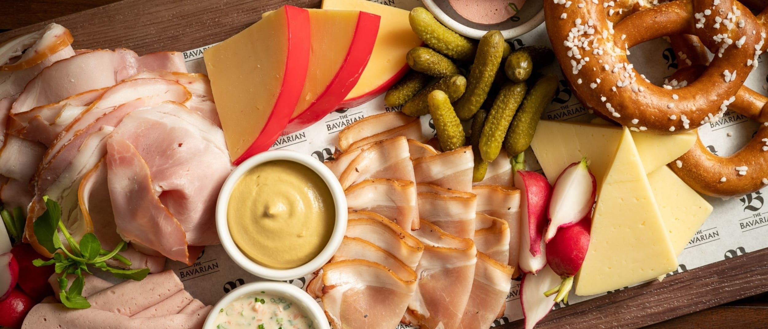 The Bavarian: All you can meat & cheese board