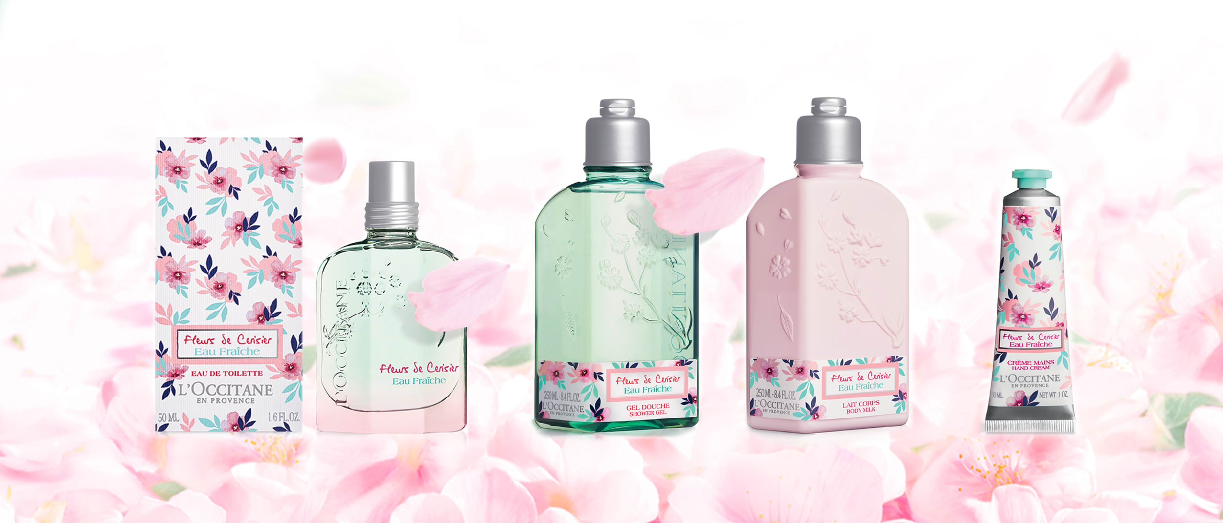 L'Occitane limited-edition Cherry Blossom collection