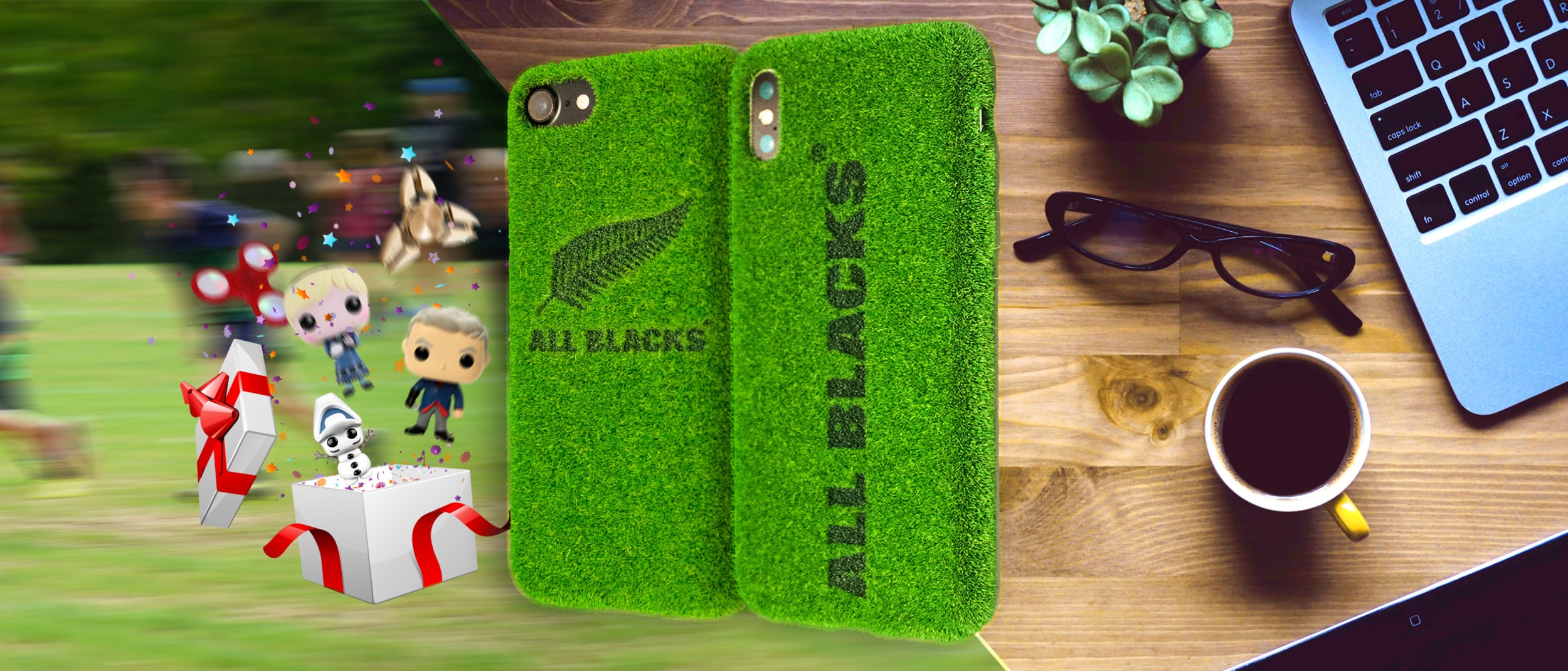 Omnitech: 20% off on All Blacks - turf cases + free gifts