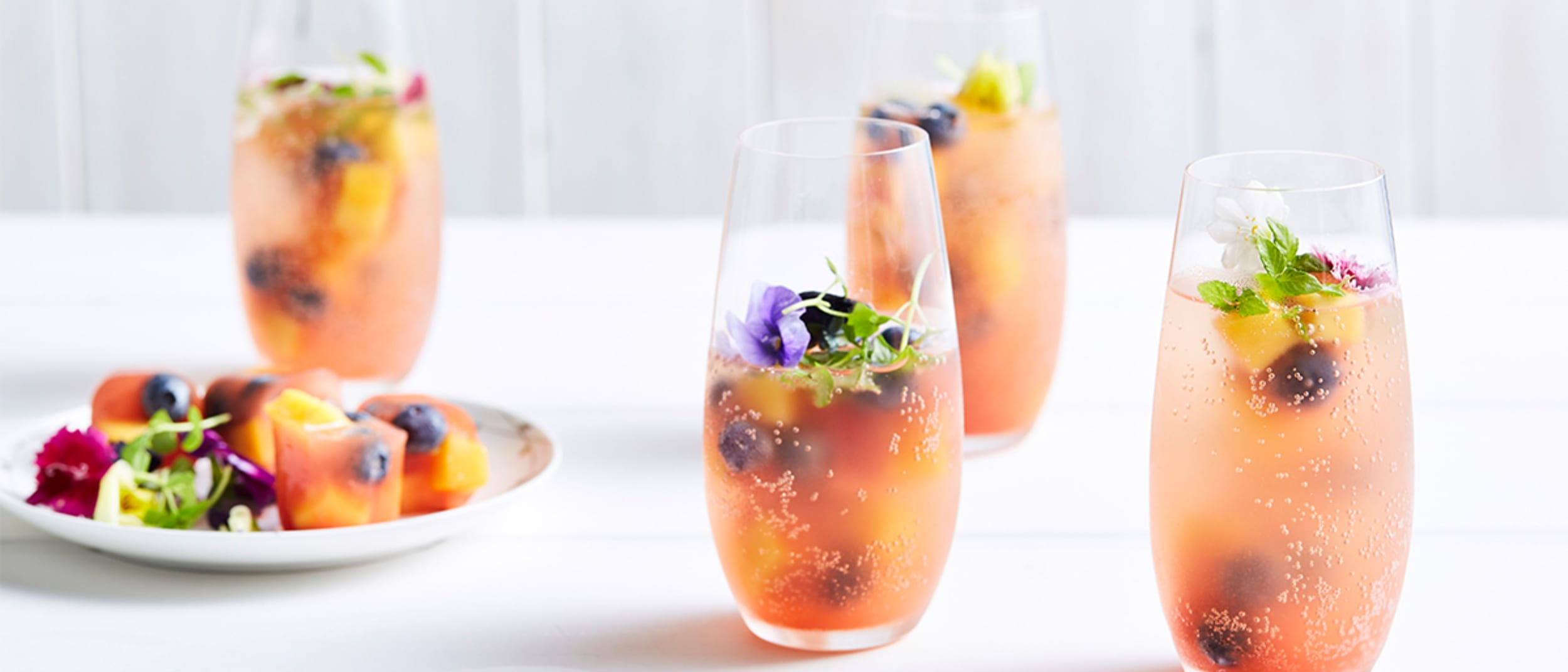 Calypso® Mango and Perfection Blueberry gin and tonic