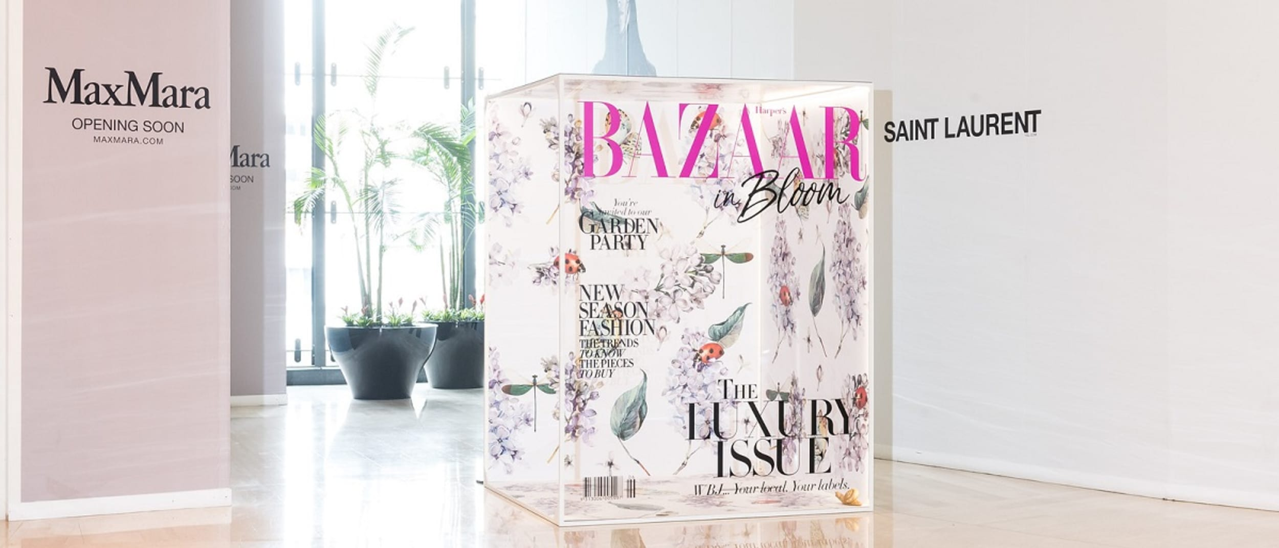 BAZAAR in Bloom Magazine Cover Installation