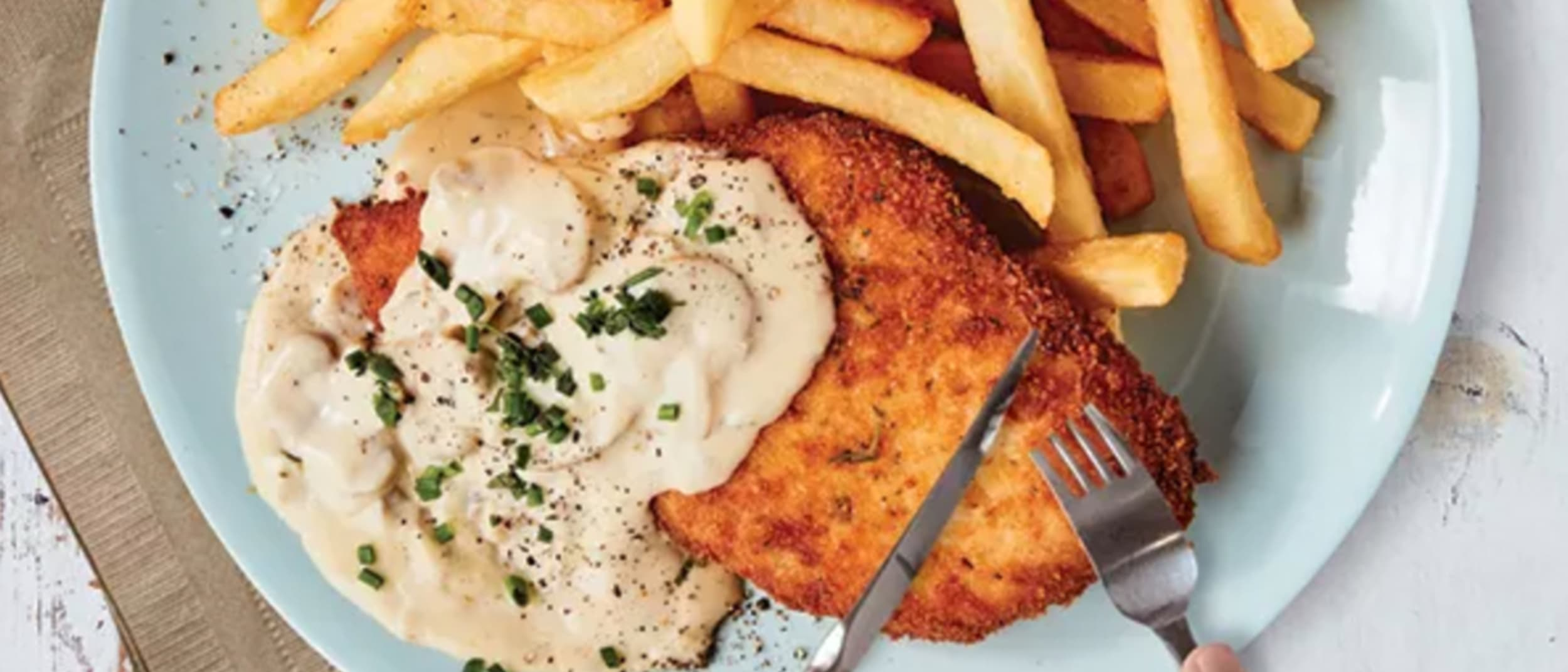 Bavarian: Loaded schnitzels in store now