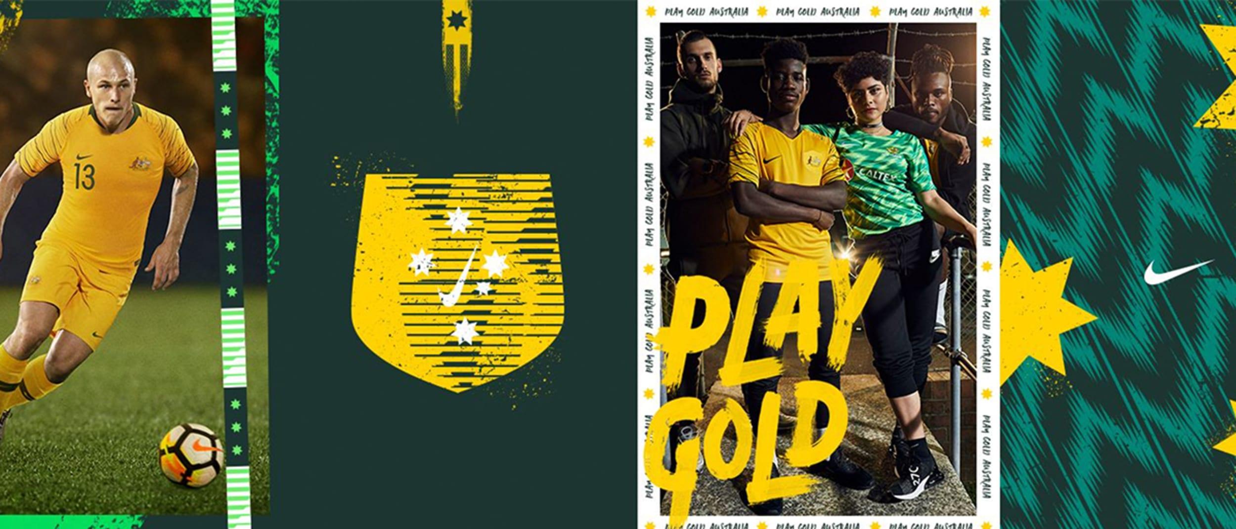 Nike football, play gold
