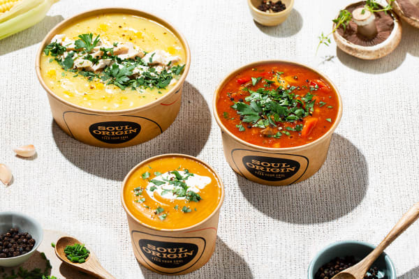 Soul Origin: add a $4 Soup Sipper with your lunch