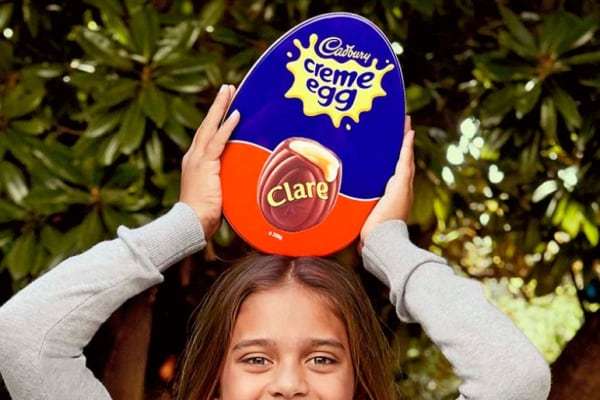Personalise your Cadbury Creme Egg gift tin at Myer