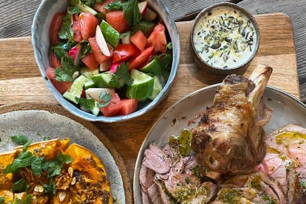 Autumn feast: Roast lamb, butternut pumpkin and watermelon salad