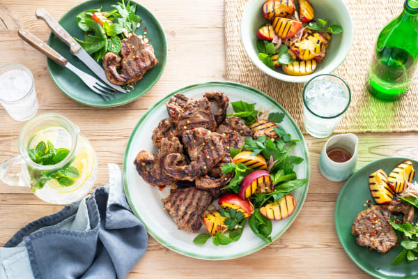 Recipe: Grilled Lamb Loins with Peach Salad