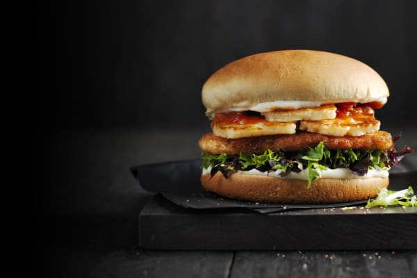 Oporto: Halloumi and chicken - it was meant to be