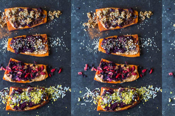 Superfood peanut butter and jam sweet potato toast