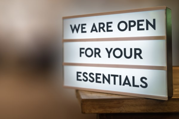 We are open for your essentials and click and collect in Level 3