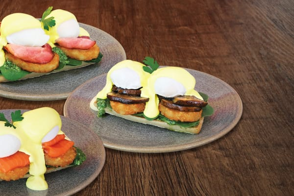 The Coffee Club Eggs Bene Stack