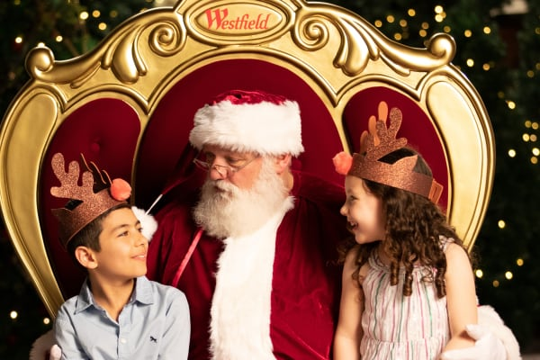 Santa photography at Westfield Carousel