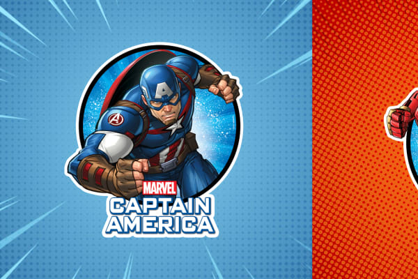 Meet your favourite Marvel heroes Iron Man & Captain America!
