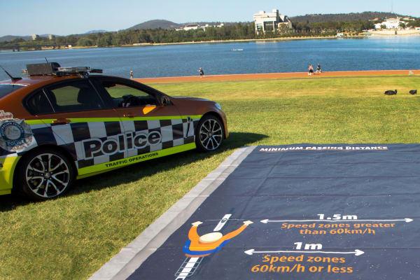 ACT Policing Safe Passing Distances Display