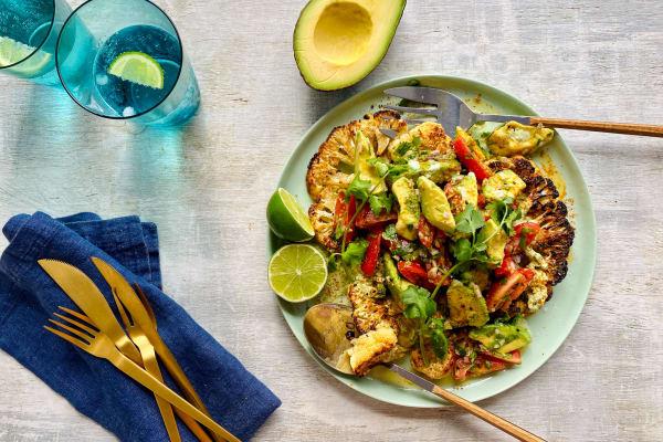 Recipe: Mexican roasted cauliflower steaks with Delcado salsa