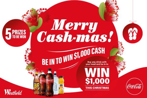 Be in to win* a $1000 Christmas bonus with Coca Cola