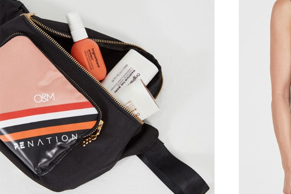 P.E Nation x O&M bum bag and cosmetics case