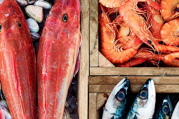 Fishmonger: Medium green banana prawns $19.99/kg save $5