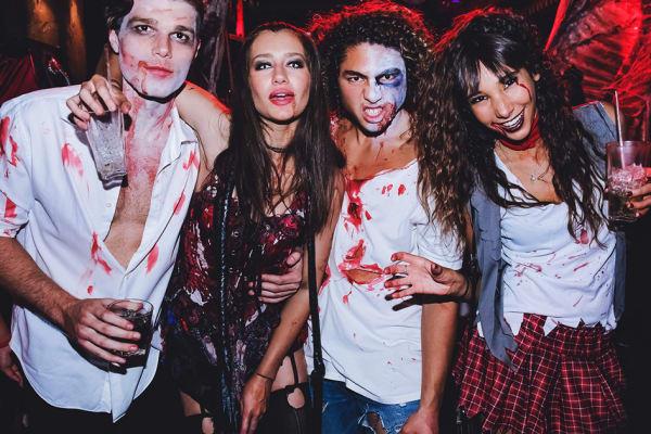 Halloween party at El Camino Cantina