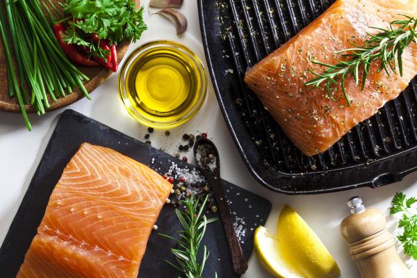 Fisch: Fresh atlantic salmon cutlets