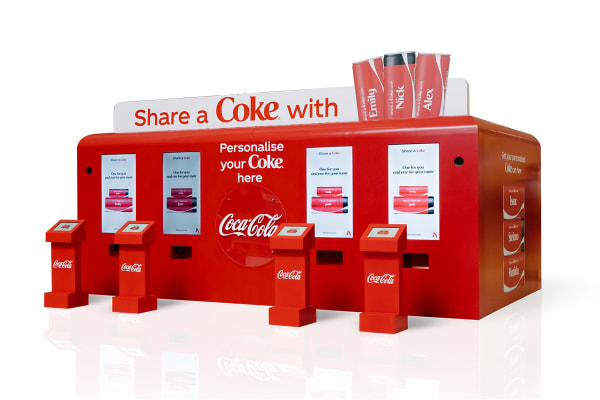 Get your free personalised Coke® cans