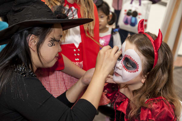 Shoes & Sox Halloween Face Painting