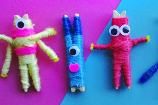 Kids' craft activity: DIY worry monsters