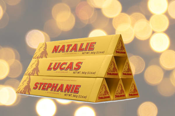 Myer: Personalised Toblerone
