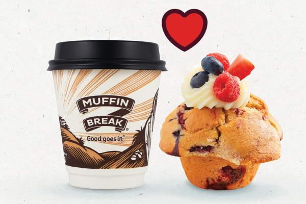 Muffin Break: small coffee & muffin for $7.50