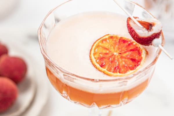Try your hand at this orange blush lychee cocktail